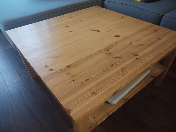 Stół kawowy drewniany wymiary 88x88