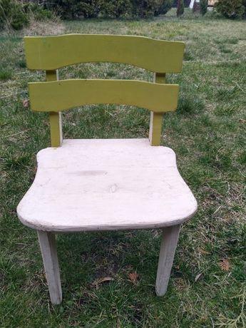 Drewniane krzesełko dla dziecka 2-4 latka
