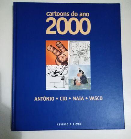 """Livro """"Cartoons do ano 2000"""""""