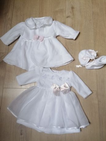 Ubranko na chrzest dla dziewczynki