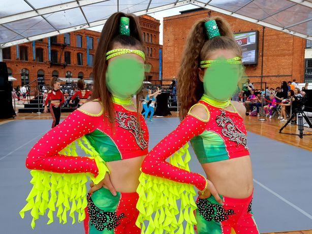 Strój stroje do DUETU SOLO disco dance 140 146 cm 140/146 cm. Stan BDB