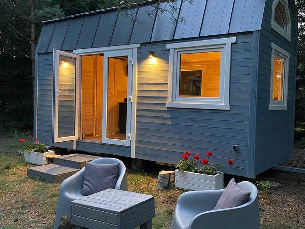 Domek drewniany na kolach - tiny house