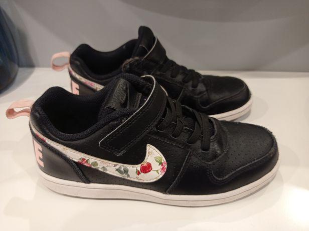Buty dziewczęce Nike, skórzane, czarno-różowe, rozm. Eur. 33,