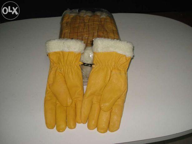 Luvas de pele com lã