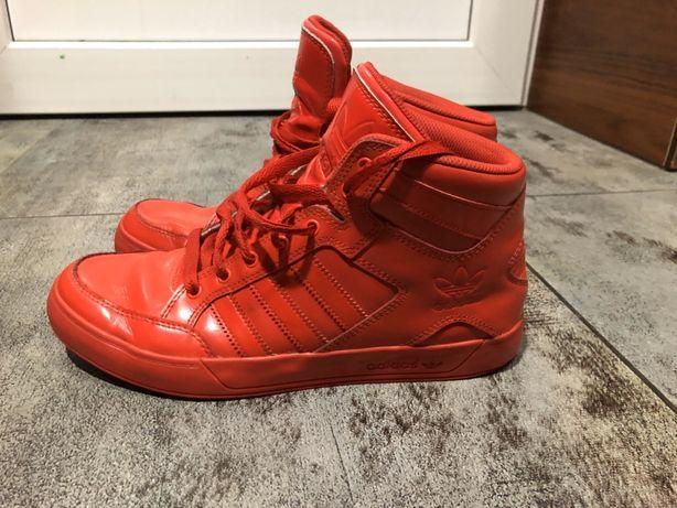 Buty Adidas wysokie czerwone sneakersy 43 1/3