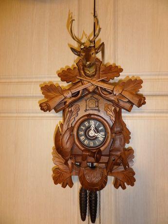 Zegar Duża Myśliwska Kukułka Regula Przeglądnięta Przez Zegarmistrza