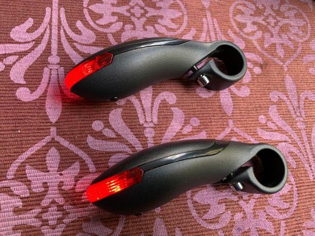 Rogi do roweru ze światełkami