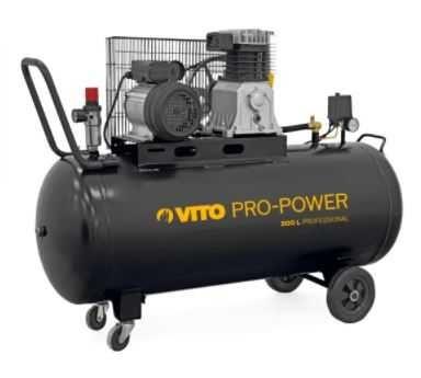 Compressor de ar VITO com correias 200L, Caudal: 300 L/m, 3cv