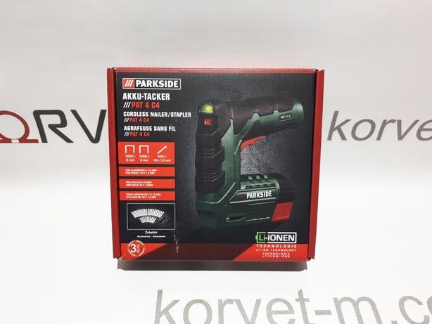 Аккумуляторный степлер Parkside PAT 4 C 4 из Германии !