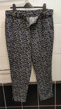 летние женские брюки M&S с высокой посадкой  на р.50-  UK14