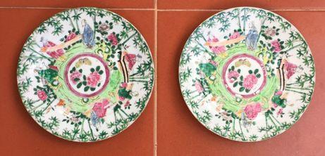 Companhia das Indias -- Par pratos Japão -- Familia Rosa
