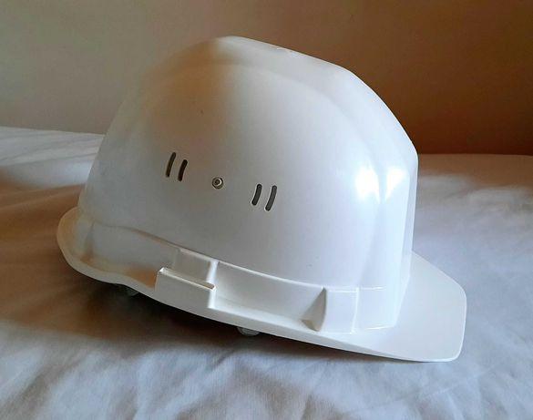 Capacete de protecção de obra, branco NOVO