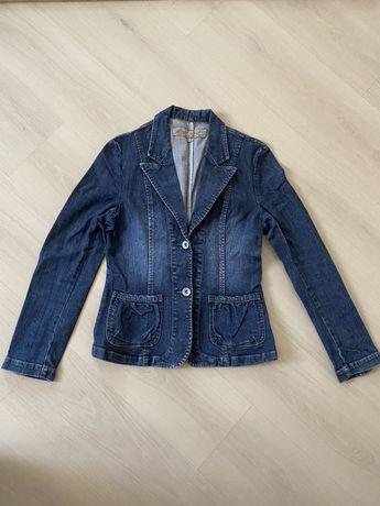 Джинсовая куртка,пиджак джинсовый женский, S (р.44)