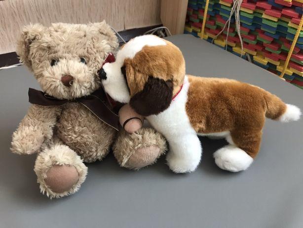 Детские мягкие игрушки мишка, собачка,игрушка музыкальная на кроватку