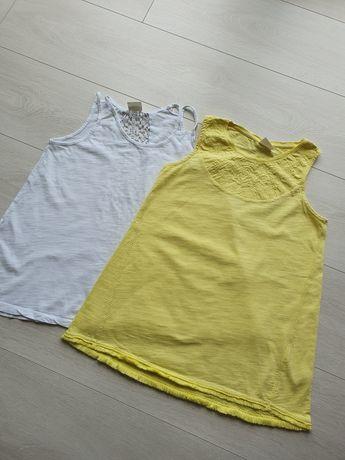 Koszulki żółta i biala ZARA