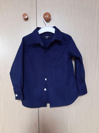 Granatowa koszula chłopięca r92-98