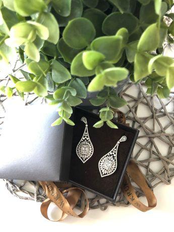 Kolczyki z kryształkami Swarovskiego firmy Kruk