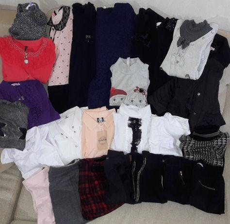 Школьная форма блузка штаны гольф пиджак юбка шорты сарафан 134-146