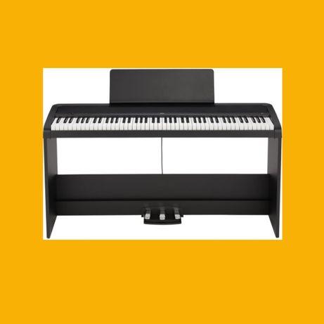 Komplet KORG B2 BK SP pianino cyfrowe klawiatura 88 statyw drewniany