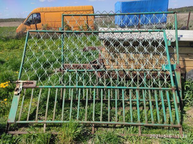 Brama z furtką szerokość całości 540 cm