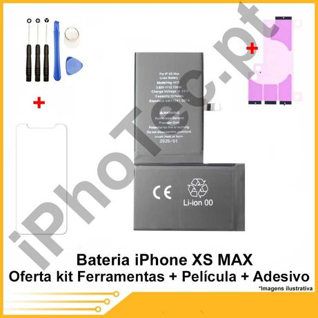 Bateria IPhone XS MAX Oferta Kit Ferramentas + adesivo + pelicula
