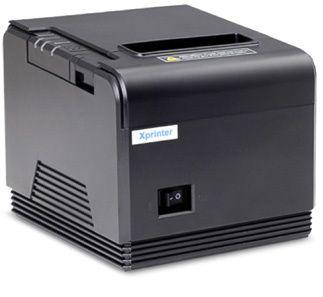 Принтер чеков Xprinter XP-Q260 для кафе бара ресторана Poster Постер