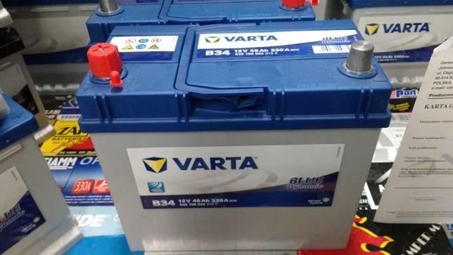 Akumulator Varta Blue 12V 45Ah 330A B34 L+ Honda montaż dowóz Kraków