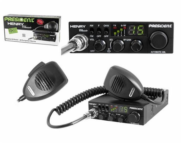 Cb radio president henry+antena---midland m mini +antena