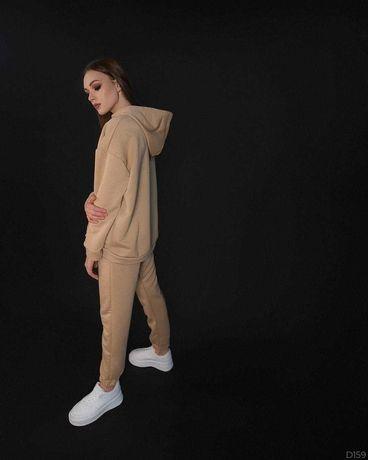 Женский костюм оверсайз  комплект спортивный костюм худи+штаны