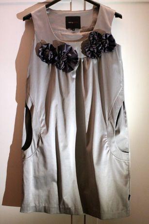 Sukienka carry - rozmiar s - srebrna - bankietowa