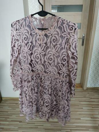 Sukienka koronkowa dziewczęca r. 152