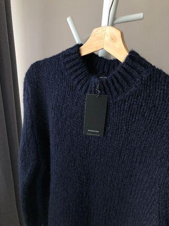 Nowy sweter z wełną wełniany granatowy Reserved stójka półgolf 38 M