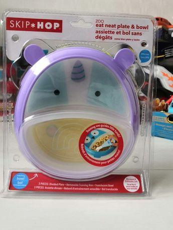 Детская тарелка с единорогом от Skip Hop. Skip Hop
