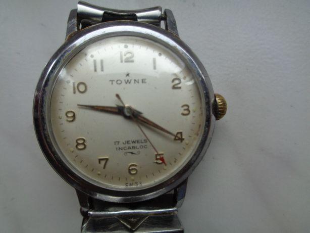 zegarek Towne 17 jewels incablok sprawny stan bdb