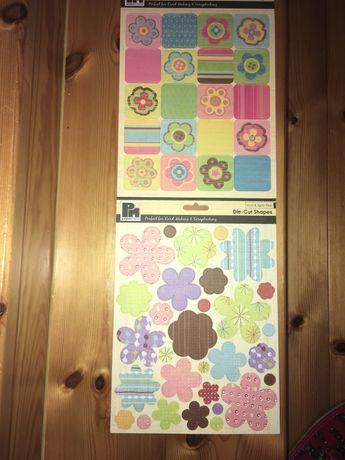 Aplikacje do scrapbooking kwiatki