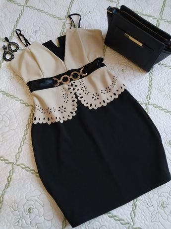Шикарне плаття/Красива сукня/Платье с имитацией корсета с чашечками