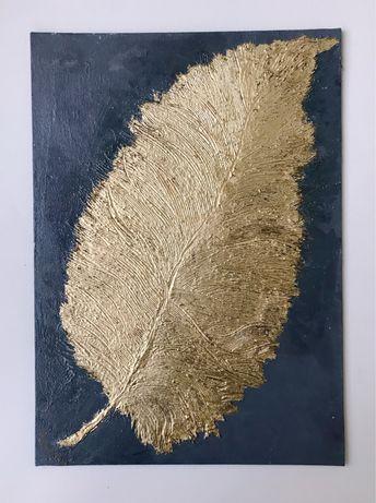 Интерьерная картина Золотое перо