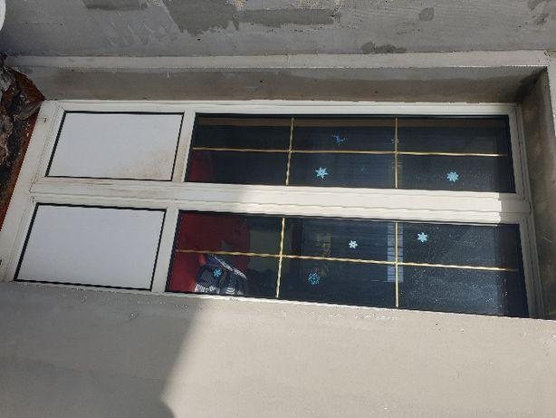 Drzwi balkonowe PCV dwuskrzydłowe 100x210cm białe, okno