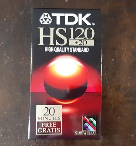 Nowe Czyste Zafoliowane Kasety VHS TDK HS 120+20 min (2 sztuki)