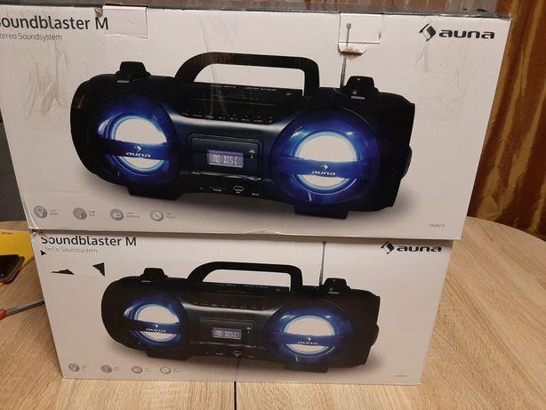 Soundblaster M Boombox Bluetooth CD MP3 USB FM FM Efekt LED 25W RMS