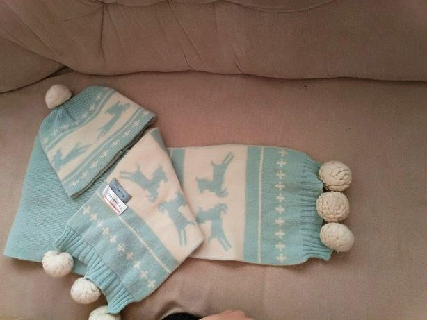 Komplet zimowy,czapka szalik,zestaw zima