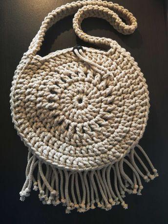 Torba ze sznurka bawełnianego beżowa