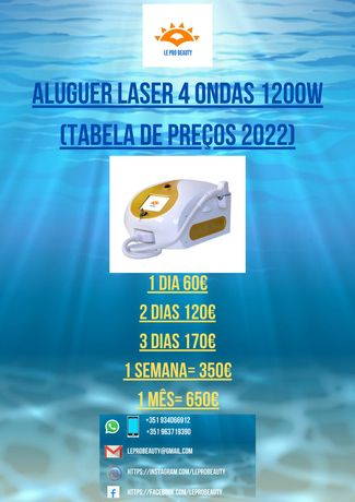 Aluguer Laser Díodo 4 ondas 1000W / 1200W