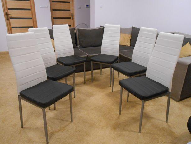 Krzesła biało-czarne NOWE