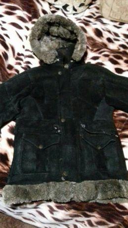 Натуральная кожаная дубленка куртка на меху