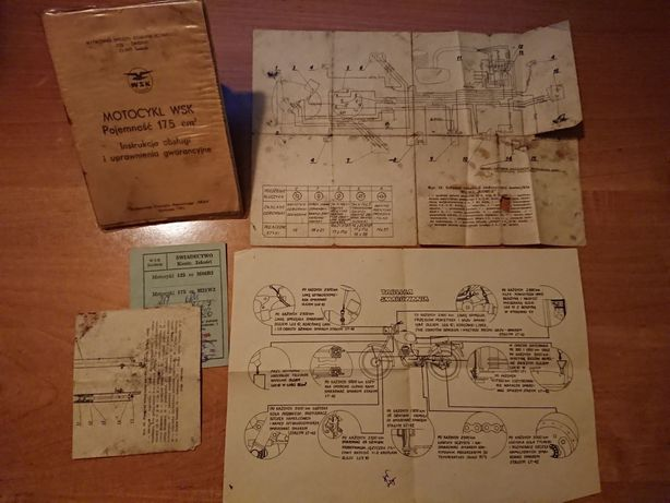 WSK 175 M21W2 Kobuz Instrukcja obsługi 1982