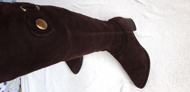 Сапоги, ботфорты, ботинки из натуральной замши