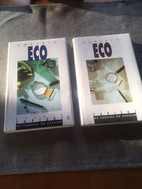 Zapiski na pudełku od zapałek Umberto Eco