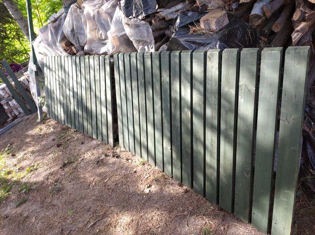 Płot ogrodzenie drewniane sztachety wys. 1m plus słupki  i furtki