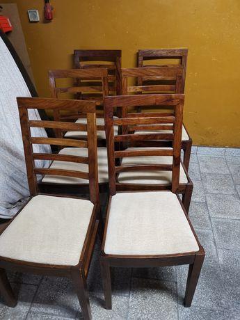 Krzesła brązowe 6szt prawdopodobnie palisander
